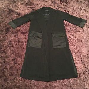 Harlowe & Graham Long Black Blazer style jacket XS
